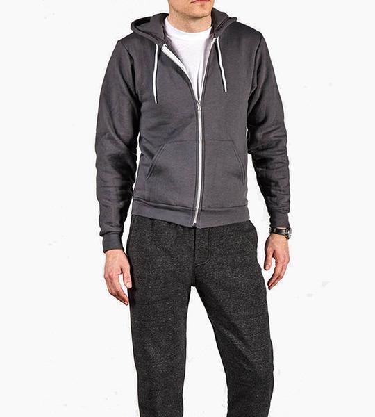 Alternative apparel rocky eco fleece zip hoodie   eco black