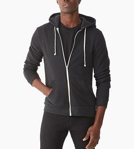 Alternative apparel rocky eco fleece zip hoodie   eco true black