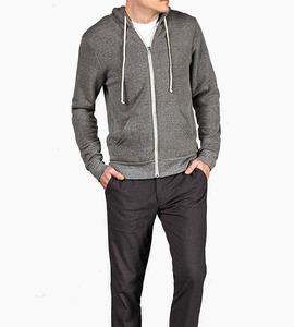 Alternative apparel rocky eco fleece zip hoodie   eco grey