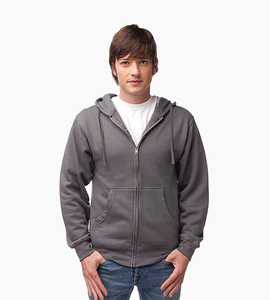 Independent trading company standard supply series men s zip hood   charcoal