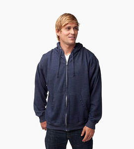 Independent trading company standard supply series men s zip hood   classic navy heather