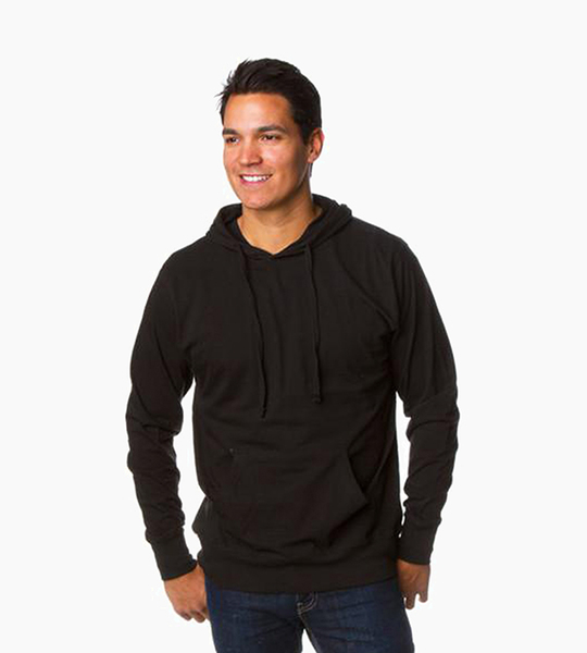 Independent trading company standard supply series men s jersey pullover hood   black