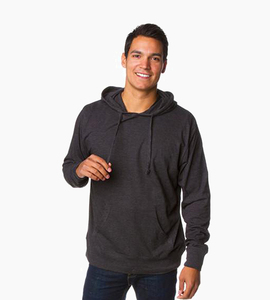 Independent trading company standard supply series men s jersey pullover hood   charcoal heather