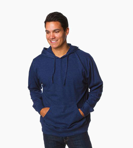 Independent trading company standard supply series men s jersey pullover hood   classic navy heather