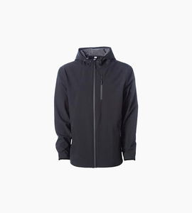 Independent trading company expedition series men s poly tech soft shell jacket   black graphite