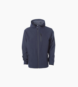 Independent trading company expedition series men s poly tech soft shell jacket   classic navy graphite