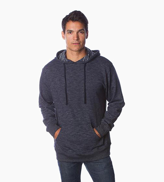 Independent trading company prm series men s baja pullover hood   azul marino clasico