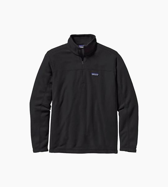 Patagonia m s micro d  pullover   black