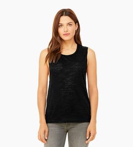 Bella   canvas women s flowy scoop muscle tank   black heather