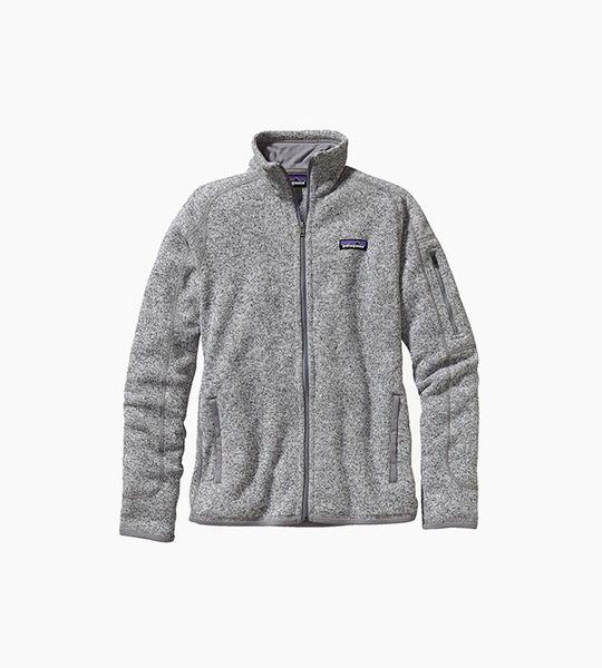 Patagonia women s better sweater  jacket   birch white