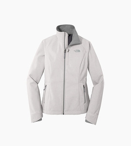 The north face ladies apex barrier soft shell jacket   tnf light grey heather