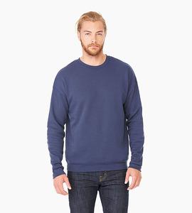 Bella   canvas unisex sponge fleece drop shoulder sweatshirt   navy