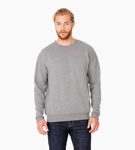 Bella   canvas unisex sponge fleece drop shoulder sweatshirt   deep heather