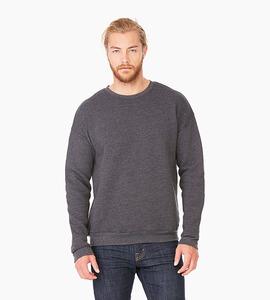 Bella   canvas unisex sponge fleece drop shoulder sweatshirt   dark grey heather