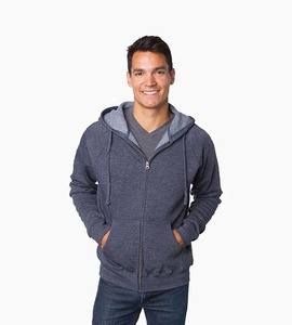 Independent trading company prm series unisex special blend zip hood   midnight heather