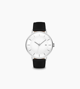 Linjer m classic watch   silver black