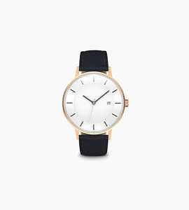 Linjer m classic watch   rose gold navy