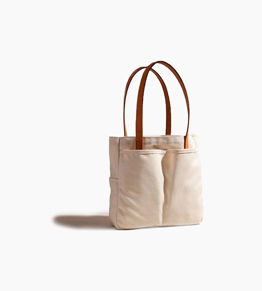 Joshu vela utility tote small   natural