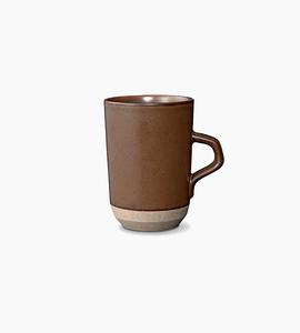 Kinto ceramic lab tall mug   brown