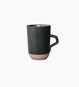 Kinto ceramic lab tall mug   black
