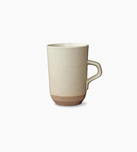 Kinto ceramic lab tall mug   beige
