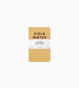 Field notes original kraft ruled 3 pack   kraft