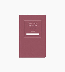 Public supply notebook   single   red 01