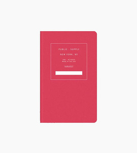 Public supply notebook   single   red 02