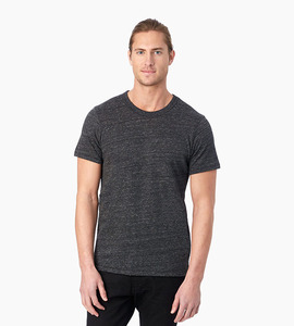 Alternative apparel eco jersey crew t shirt   eco black