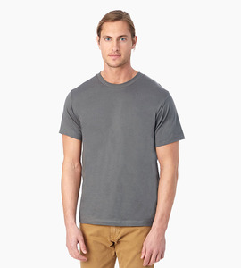 Alternative apparel basic men s crew t shirt   asphalt