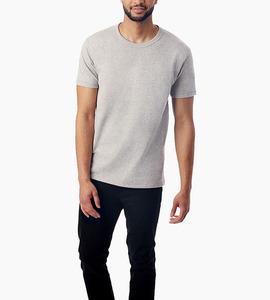 Alternative apparel nostalgia heavyweight mock twist t shirt   eco mock nickel