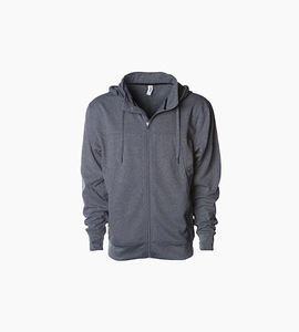 Independent trading company expedition series men s poly tech zip hood   gunmetal heather
