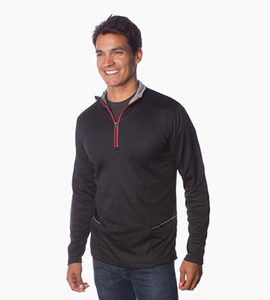 Independent trading company expedition series men s 1 4 zip l s poly tech   black