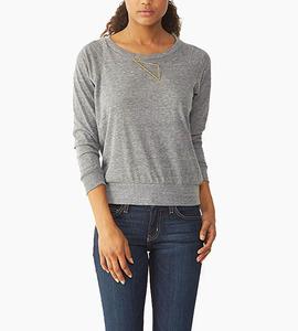 Alternative apparel slouchy eco jersey pullover   eco grey