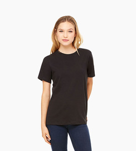 Bella   canvas women s relaxed jersey short sleeve tee   black