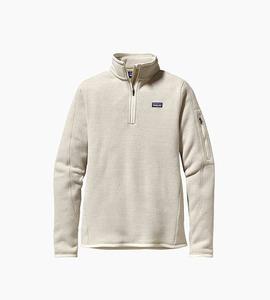 Patagonia women s better sweater  1 4 zip   raw linen