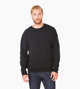 Bella   canvas unisex sponge fleece drop shoulder sweatshirt   black