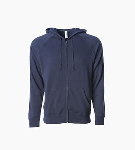 Independent trading company prm series unisex special blend zip hood   classic navy