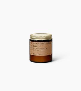 Pf candle co 3.5 oz soy candle   teakwood   tobacco