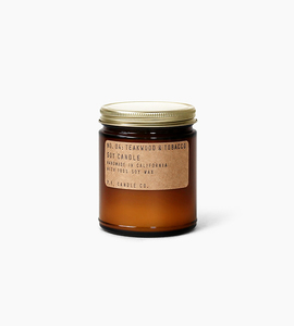 Pf candle co 7.2 oz soy candle   teakwood   tobacco
