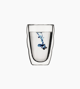 Bodum pilatus 2 pcs glass  double wall  small 8 oz   glass