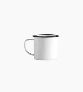 Crow canyon home mug 12oz   white black rim