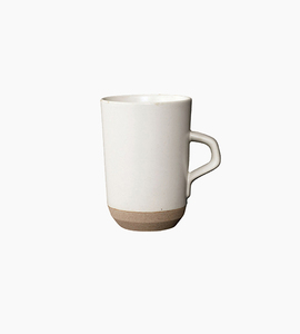 Kinto ceramic lab tall mug   white