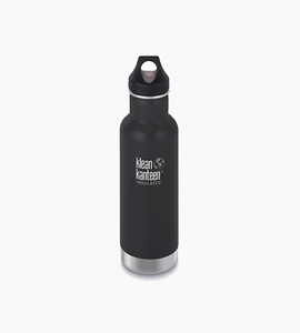 Klean kanteen insulated wide 20oz w loop cap   matte black