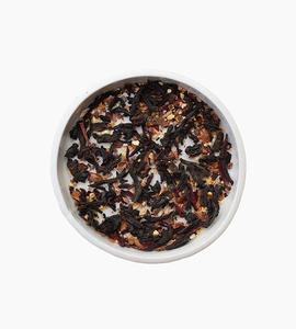 Leaves and flowers black tea   hibiscus spice black