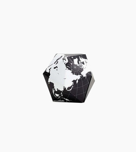 Areaware dymaxion folding globe   black white