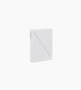 Areaware minim playing cards   white
