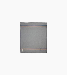 Woolrich shady cove stripe throw   light gray