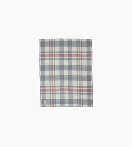 Woolrich soft wool plaid throw   grey