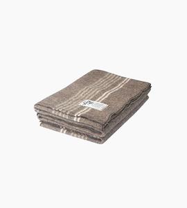 Woolrich suffolk stripe throw   natural brown